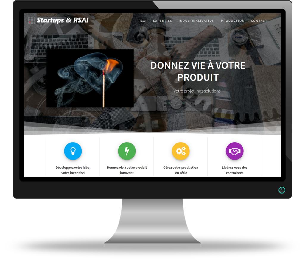 Projet site vitrine entreprise sur une page